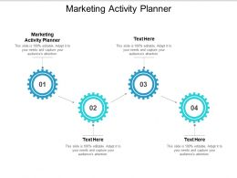 Marketing Activity Planner Ppt Powerpoint Presentation Inspiration Aids Cpb
