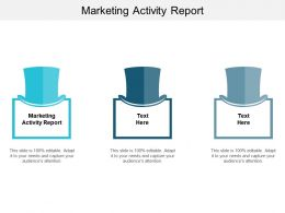 Marketing Activity Report Ppt Powerpoint Presentation Ideas Designs Cpb