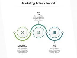 Marketing Activity Report Ppt Powerpoint Presentation Styles Infographic Template Cpb