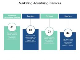 Marketing Advertising Services Ppt Powerpoint Presentation Infographic Template Elements Cpb