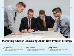 Marketing Advisor Discussing About New Product Strategy