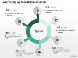 Marketing Agenda Representation Flat Powerpoint Design