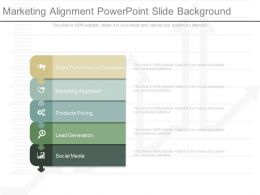 Marketing Alignment Powerpoint Slide Background