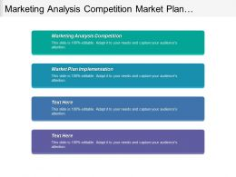 Marketing Analysis Competition Market Plan Implementation Financial Revenue