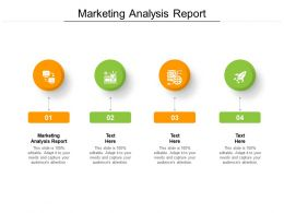 Marketing Analysis Report Ppt Powerpoint Presentation File Maker Cpb