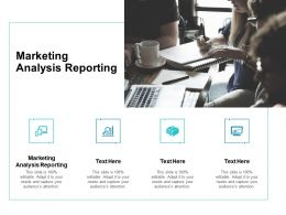 Marketing Analysis Reporting Ppt Powerpoint Presentation Ideas Picture Cpb