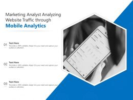 Marketing Analyst Analyzing Website Traffic Through Mobile Analytics