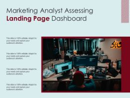Marketing Analyst Assessing Landing Page Dashboard