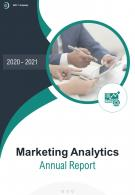 Marketing Analytics Annual Report PDF DOC PPT Document Report Template