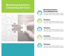 Marketing Analytics Consulting Services Ppt Powerpoint Presentation Show Cpb