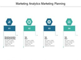 Marketing Analytics Marketing Planning Ppt Powerpoint Presentation Model Slide Cpb