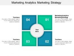 Marketing Analytics Marketing Strategy Ppt Powerpoint Presentation Styles Infographics Cpb