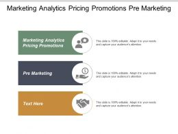 Marketing Analytics Pricing Promotions Pre Marketing Network Marketing Cpb