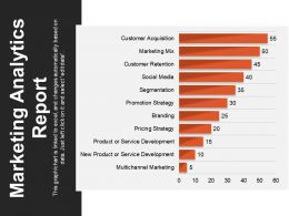 Marketing Analytics Report Powerpoint Slide Show