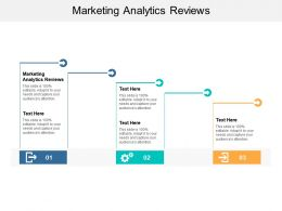Marketing Analytics Reviews Ppt Powerpoint Presentation Slides Backgrounds Cpb