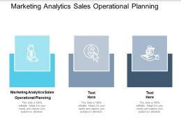 Marketing Analytics Sales Operational Planning Ppt Powerpoint Presentation Layouts Cpb