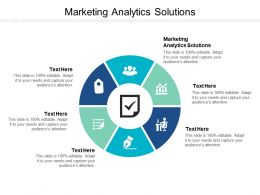 Marketing Analytics Solutions Ppt Powerpoint Presentation Summary Vector Cpb