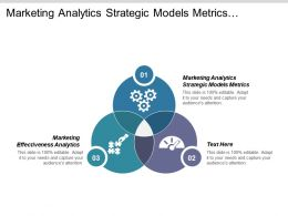 Marketing Analytics Strategic Models Metrics Marketing Effectiveness Analytics Research Cpb