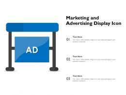 Marketing And Advertising Display Icon