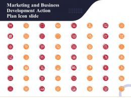 Marketing And Business Development Action Plan Icon Slide Ppt Topics