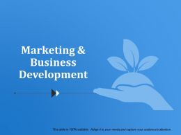 Marketing And Business Development Ppt Samples