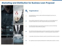 Marketing And Distribution For Business Loan Proposal Ppt Powerpoint Presentation Good