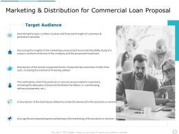 Marketing And Distribution For Commercial Loan Proposal Ppt Powerpoint Presentation Outline