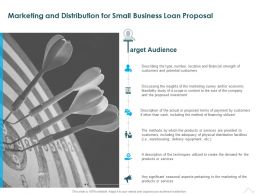 Marketing And Distribution For Small Business Loan Proposal Ppt Powerpoint Presentation Tips