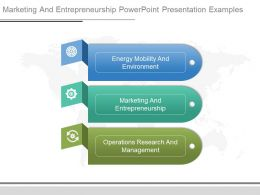 Marketing And Entrepreneurship Powerpoint Presentation Examples