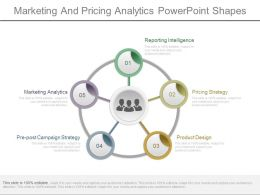 Marketing And Pricing Analytics Powerpoint Shapes