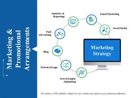 Marketing And Promotional Arrangements Ppt Samples Download