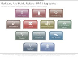 Marketing And Public Relation Ppt Infographics