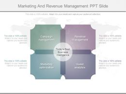 Marketing And Revenue Management Ppt Slide