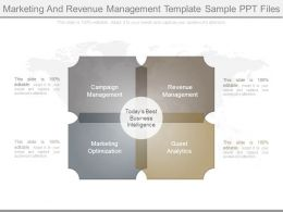 Marketing And Revenue Management Template Sample Ppt Files