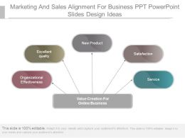 Marketing And Sales Alignment For Business Ppt Powerpoint Slides Design Ideas