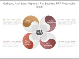 Marketing And Sales Alignment For Business Ppt Presentation Ideas