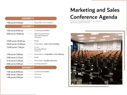Marketing And Sales Conference Agenda