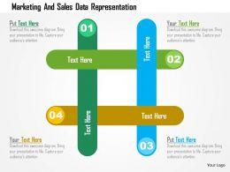 Marketing And Sales Data Representation Flat Powerpoint Design