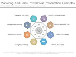 Marketing And Sales Powerpoint Presentation Examples