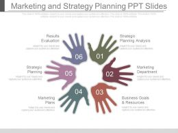 Marketing And Strategy Planning Ppt Slides