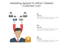 Marketing Appeal To Attract Desired Customers Icon
