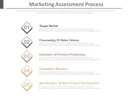 Marketing Assessment Process Ppt Slides