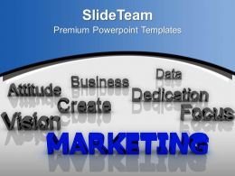 Marketing At Forefront Dedication Business PowerPoint Templates PPT Themes And Graphics 0213
