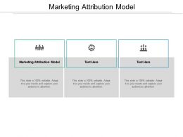 Marketing Attribution Model Ppt Powerpoint Presentation Show Diagrams Cpb