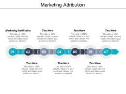 Marketing Attribution Ppt Powerpoint Presentation Portfolio Format Cpb