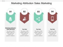 Marketing Attribution Sales Marketing Ppt Powerpoint Presentation Ideas Information Cpb