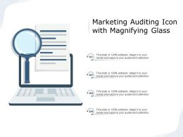 Marketing Auditing Icon With Magnifying Glass