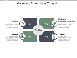 Marketing Automation Campaign Ppt Powerpoint Presentation Tips Cpb