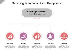 Marketing Automation Cost Comparison Ppt Powerpoint Presentation Infographic Cpb