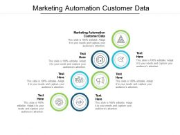 Marketing Automation Customer Data Ppt Powerpoint Presentation Gallery Deck Cpb